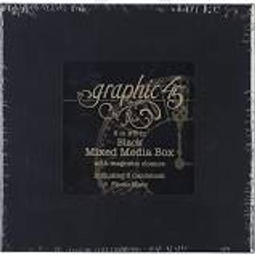 Graphic 45 Black Mixed Media Box