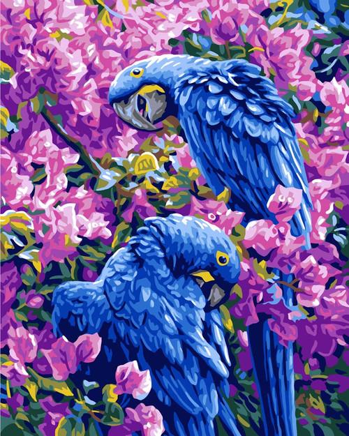 Diamond Dotz Blue Parrots