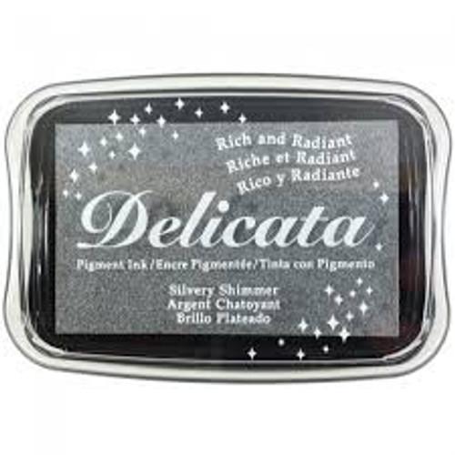 Tsukineko Delicata Silvery Shimmer Ink Pad