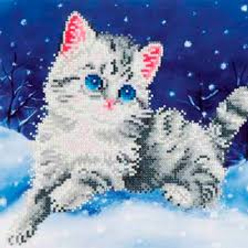 Diamond Dotz Kitten in the Snow