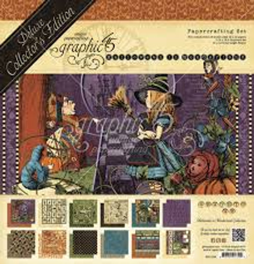 Graphic 45 Halloween In Wonderland Deluxe Collectors Edition Set