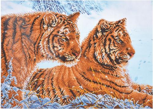 Diamond Dotz Tigers in the Snow