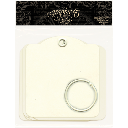Graphic 45 Square Ivory Tags