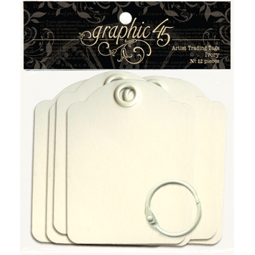 Graphic 45 Artist Trading Tags Ivory