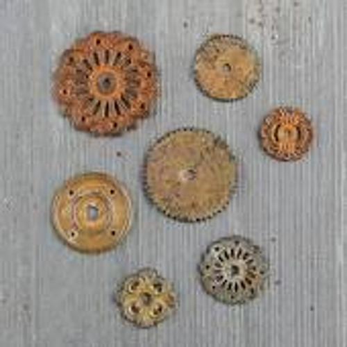 Prima Finnabair Mechanicals Metal Rustic Washers Embellishments
