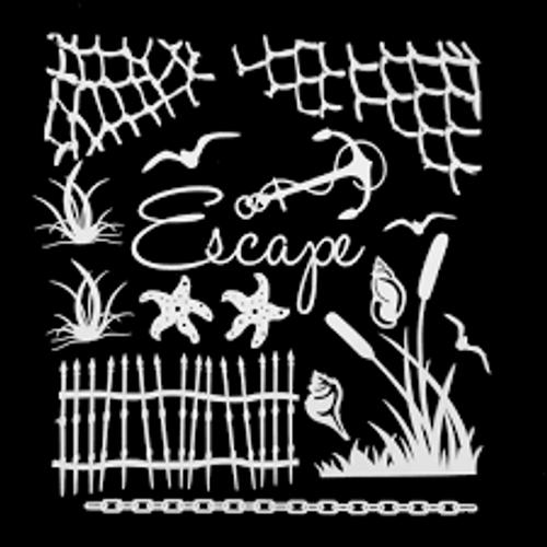 49 and Market Escape White  Archival Chipboard