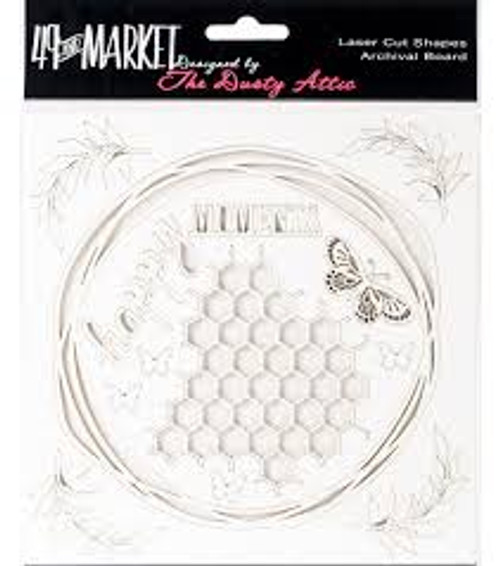49 and Market Happy Moments White Archival Chipboard