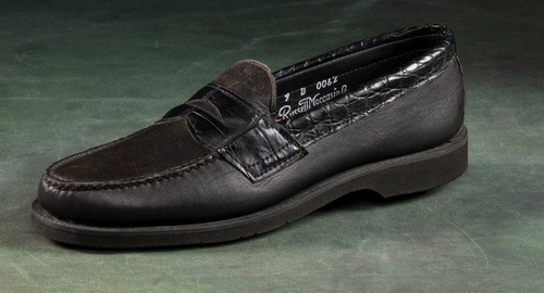 Alligator Accents Classic Penny Loafers