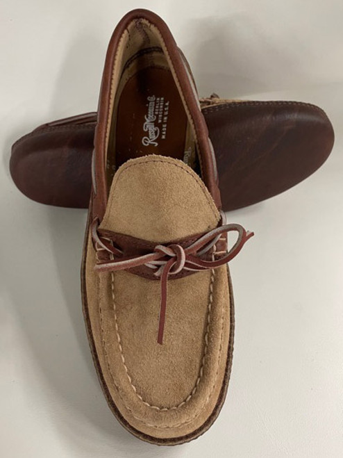 Bone Snuff Suede Airship Moccasin (In-Stock)