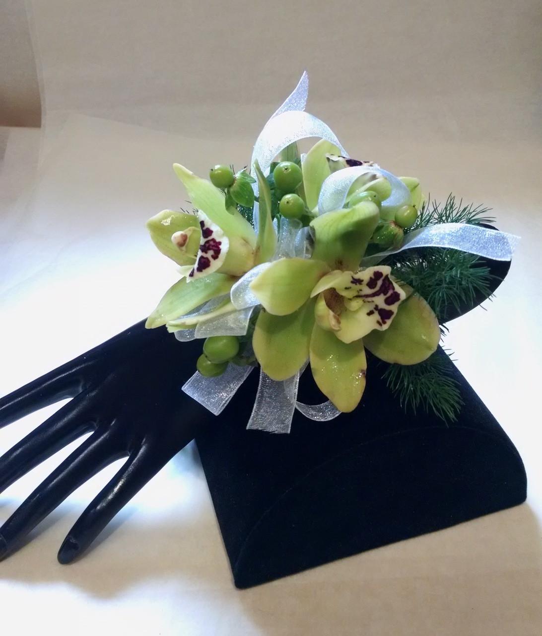Cymbidium Orchid Wrist Corsages: Cymbidium Orchid Wrist Corsage -Pick Up Only