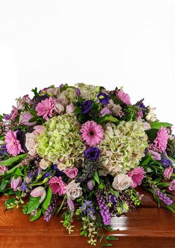 Lavender & Greens Casket Cover