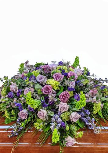 Purple & Greens Casket Cover