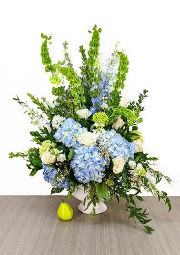 Funeral Urn Blue & Greens
