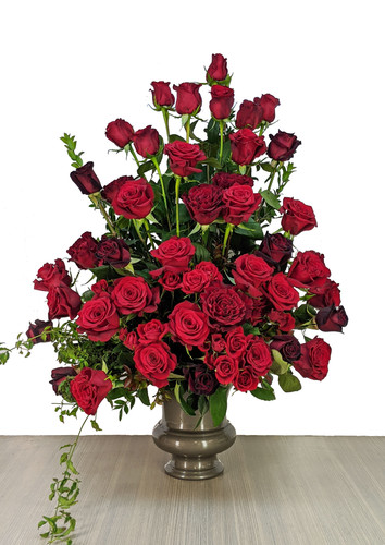 Funeral Urn Red Roses