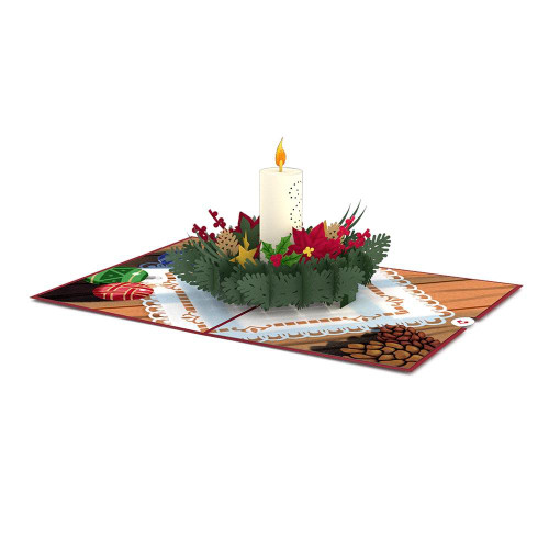 Lovepop Christmas Candle Card