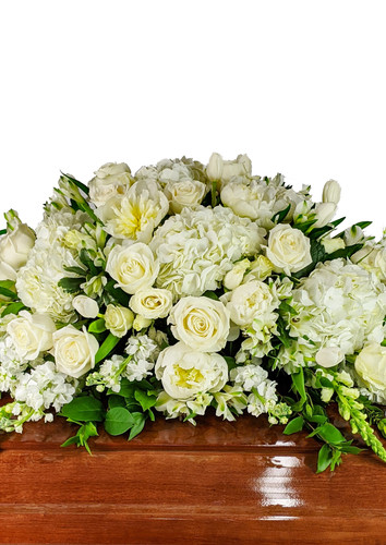 Solid White Casket Cover