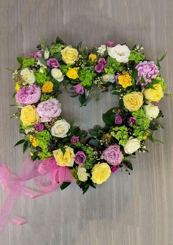 Heart Wreath in Pastels Memorial