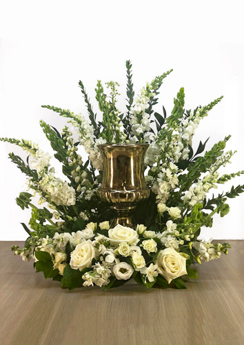 Cremation Urn Riser Memorial in White