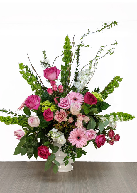 Funeral Urn Pink & Whites