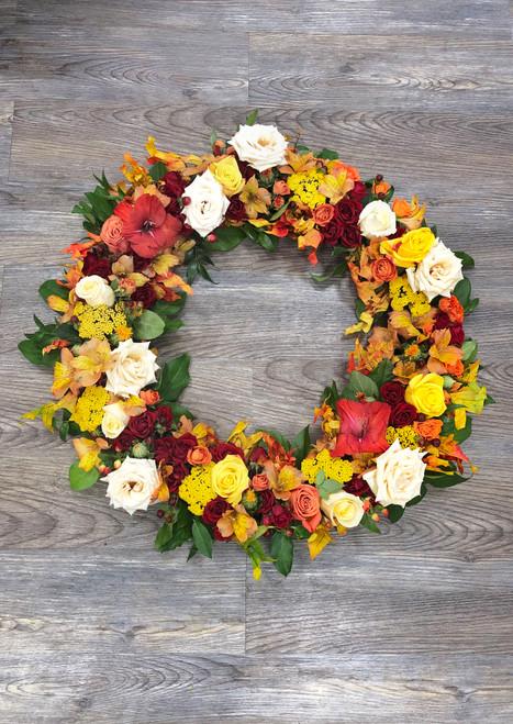 Memorial Wreath in Autumn Tones