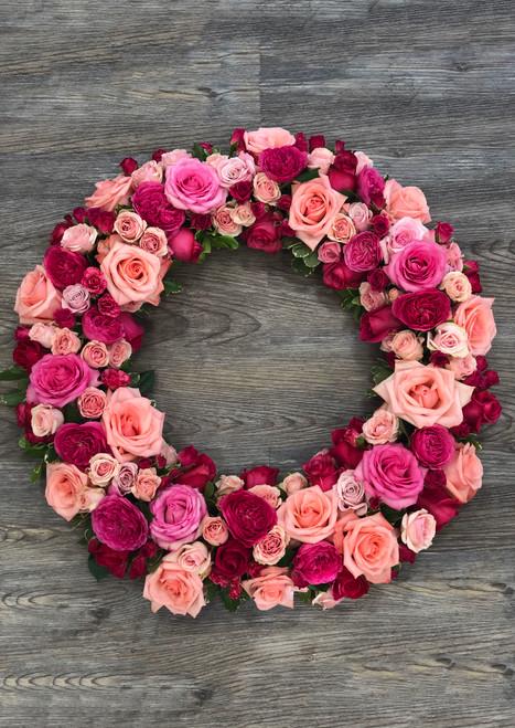 Memorial Wreath in Peach