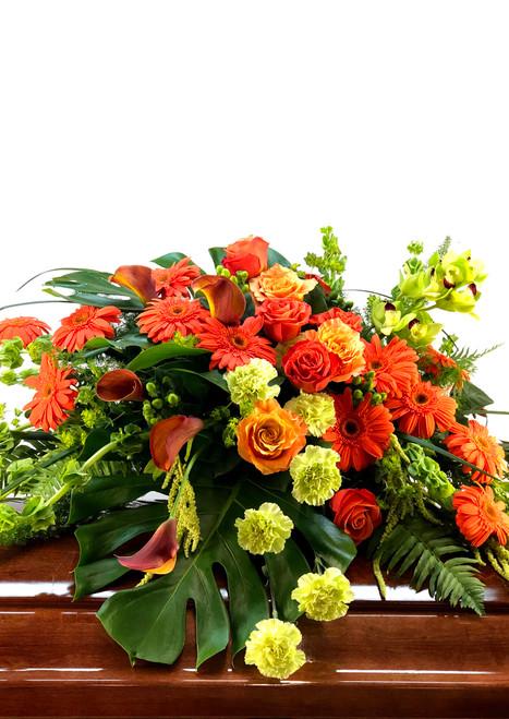 Tropical Orange Casket Cover