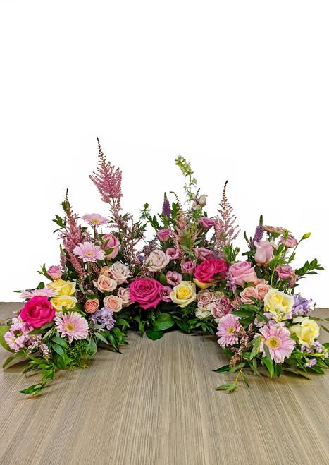 Cremation Urn Riser Memorial in Soft Pinks