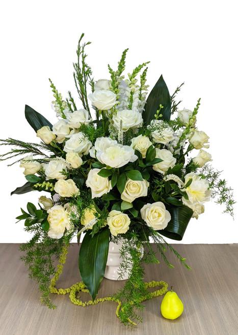 Funeral Urn White Gardens