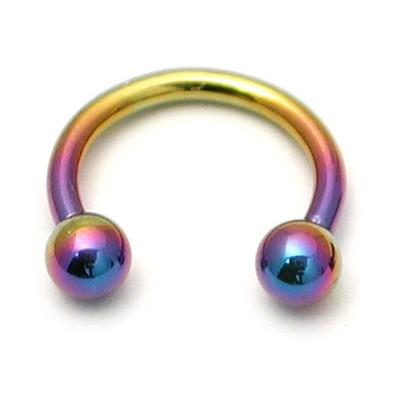 Coloured Titanium Circular Barbell