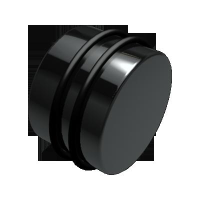 Black Acrylic Plug
