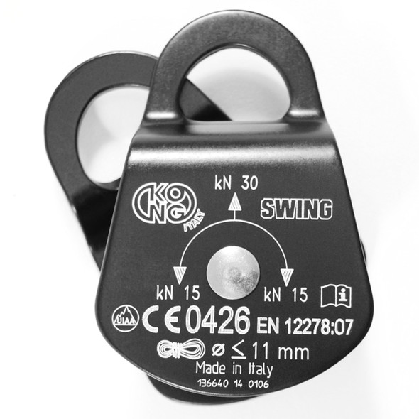 Kong Swing Aluminum Pulley Black w/Nylon Wheel