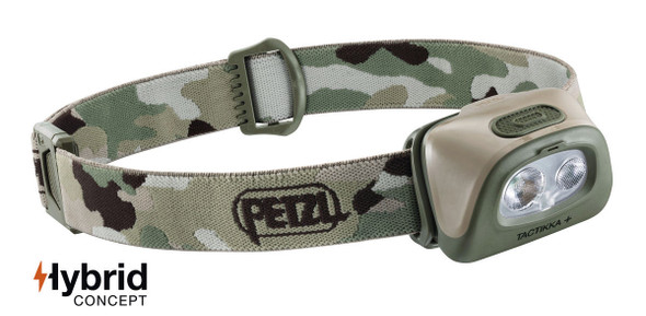 Petzl E089EA Tactikka+ LED Headlamp (300 lumens)