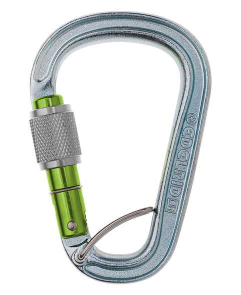Edelrid HMS Bruce Steel Screw Gate FG Silver