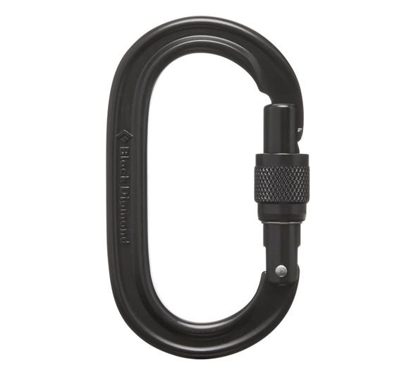 Black Diamond Oval Keylock Screwgate -black