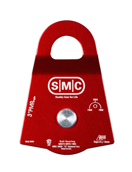 "SMC 3"" NFPA Single Prusik Minding Pulley"