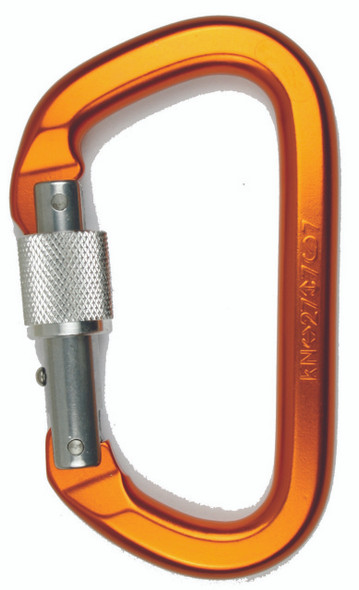 SMC Aluminum Locking 'D' carabiner - colors