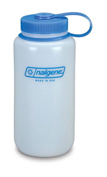 Nalgene Poly Wide Mouth Bottle, Loop Top 32oz BPA Free