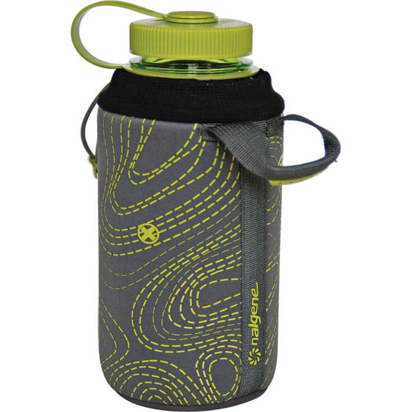 Nalgene Bottle Sleeve Gray/Green 32 oz