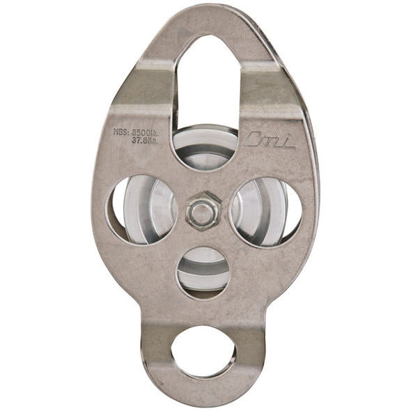 "CMI RP112 2 3/8"" Stainless Steel Double Ended Classic Pulley (Needle Bearing)"
