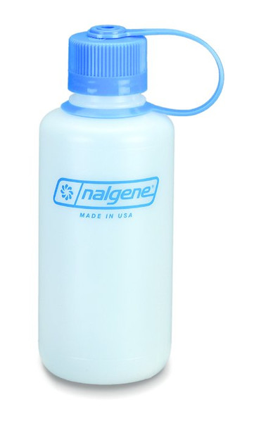 Nalgene Poly Narrow Mouth Bottle, Loop Top Cap 16oz BPA Free