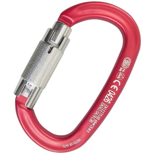 Kong Ovalone Aluminum Twist Lock CE EN 362 B Red
