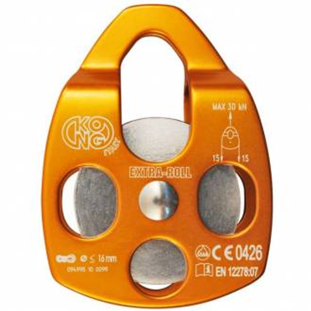Kong Extra Roll Aluminum Pulley Single Sheve Orange