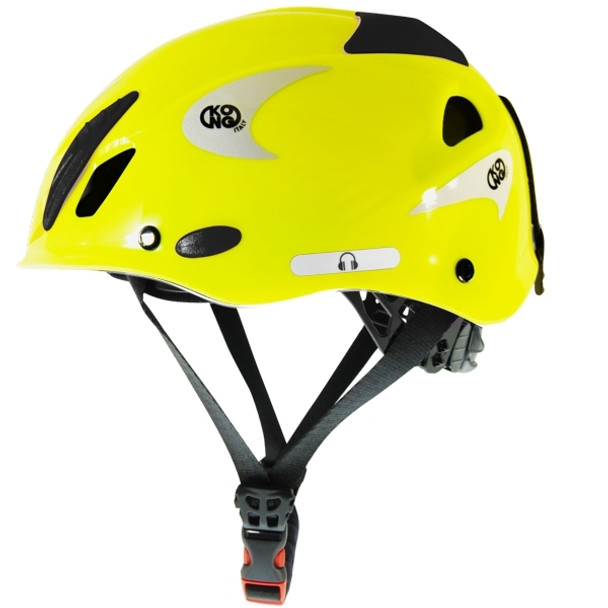 Kong Mouse Climbing Helmet Yellow Fluo Reflective