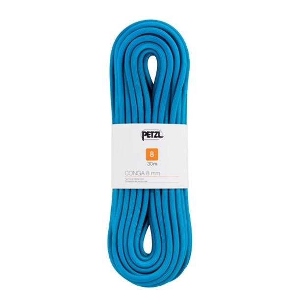 Petzl Conga semi-static cord 8mm x 30m, Blue