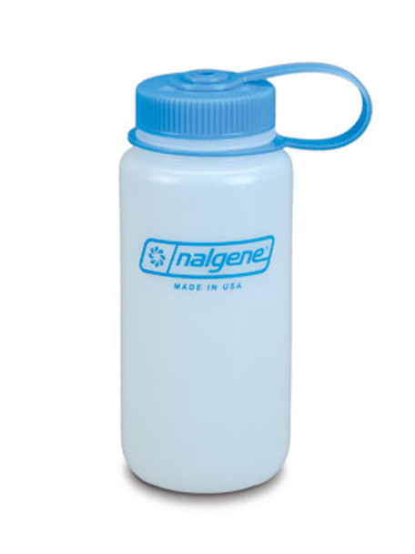 Nalgene Poly Wide Mouth Bottle, Loop Top 16oz BPA Free