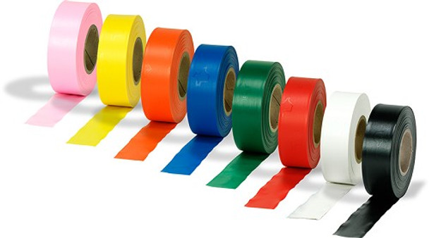 Solid Color Vinyl Flagging Tape