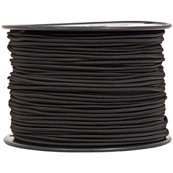 "Bungee Cord - 1/8"" - Black (by the foot)"