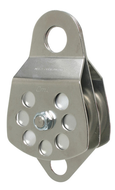 """CMI RP105D 3"""" Stainless Steel with Becket Double Pulley (Bushing)"""