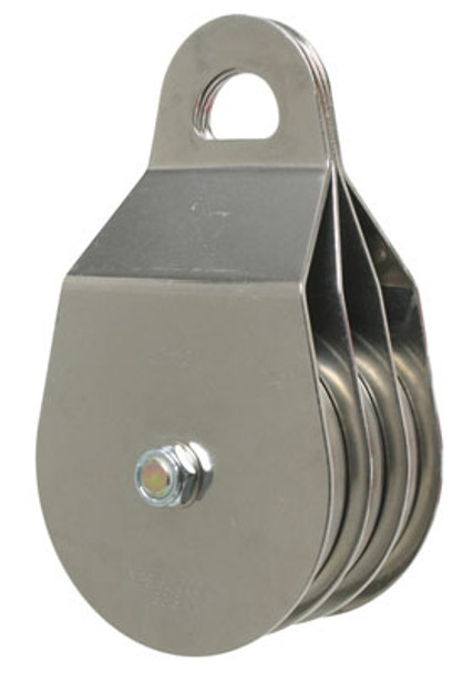 """CMI RP135 4"""" Stainless Steel Triple Pulley (Needle Bearing)"""