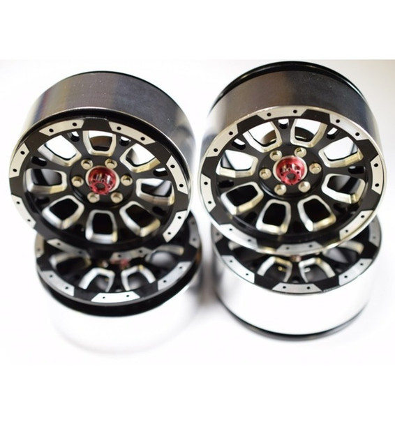 Hot Racing-Aluminum Billet 2.2 Beadlock Wheels W/ 12mm Hex (C-Style)(-BLW22SLC01